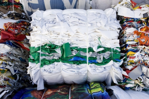balle de plastique pour recyclage