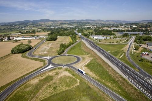 Photo aérienne d'un échangeur routier en France | Philippe DUREUIL Photographie