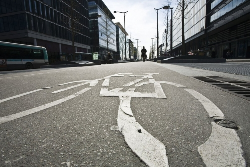 Couloir à vélos