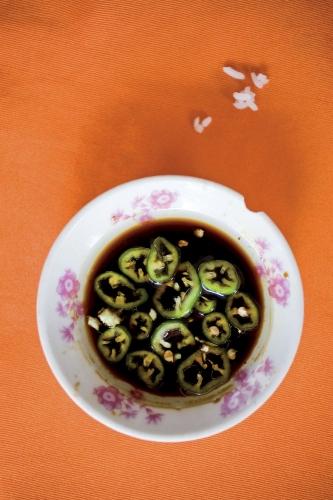 Sauce de soja au piment frais | Philippe DUREUIL Photographie
