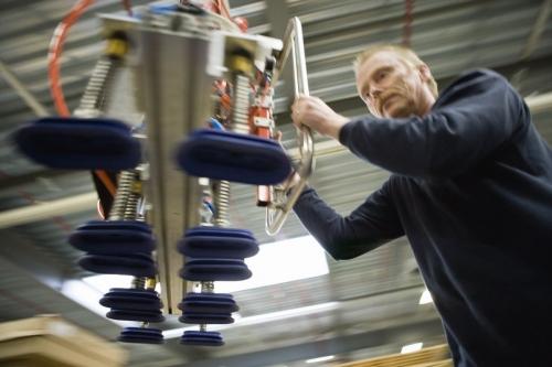 Photo industrielle Men at work réalisée pour le groupe Interface Flor en Grande-Bretagne | Philippe DUREUIL Photographie