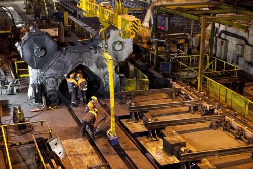Photo industrielle dans une forge
