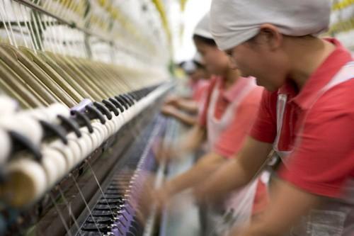 Photo industrielle filature textile