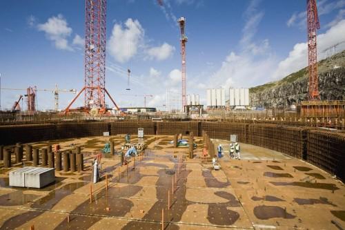 Photographie industrielle chantier EPR Flamanville