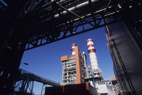 Photographie industrielle de la centrale de production d'électricité DK6