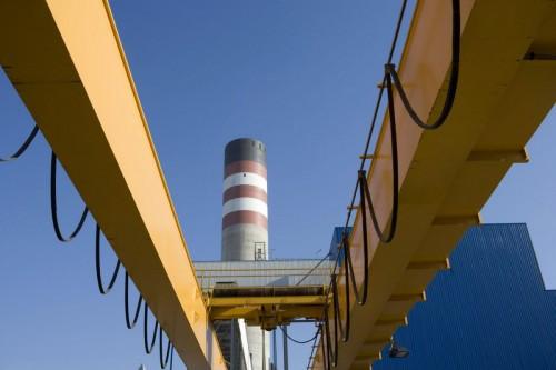 Photographie industrielle d'une centrale thermique