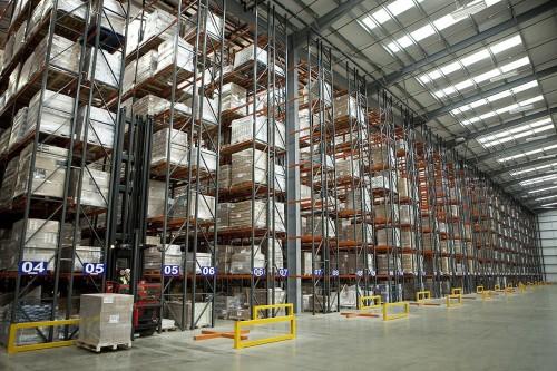 Photographie industrielle entrepôt logistique