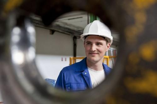 Photographie industrielle - Portrait d'un ouvrier métallurgiste