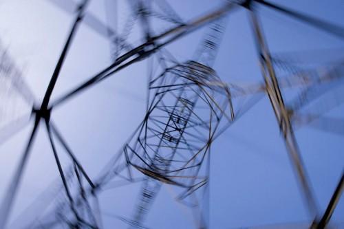 Photographie industrielle pylône haute tension