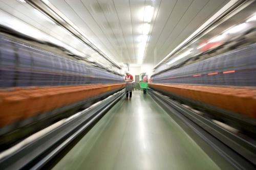Photographie industrielle réalisée avec un effet de zooming. | Philippe DUREUIL Photographie