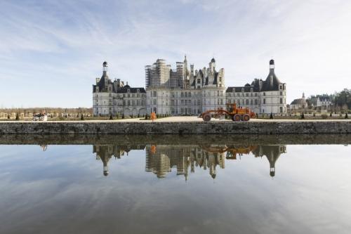 Photo du chantier de restitution des jardins du château de Chambord | Philippe DUREUIL Photographie