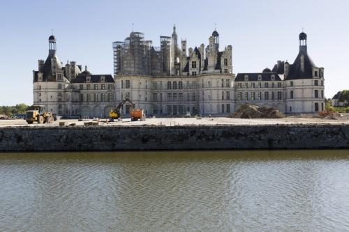 Photographie du chantier de restauration des jardins du château de Chambord | Philippe DUREUIL Photographie