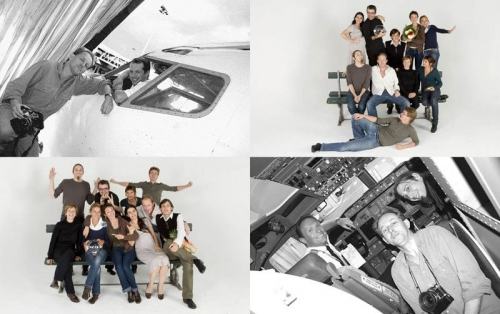 Prises de vues pour une campagne de pub EasyJet. Production photos en studio pour La Banque Postale. | Philippe DUREUIL Photographie
