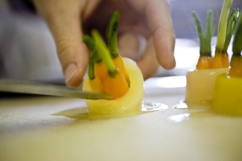 Dans les cuisines du restaurant étoilé La Bouitte | Philippe DUREUIL Photographie