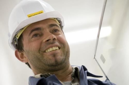 Homme au travail sur un chantier | Philippe DUREUIL Photographie