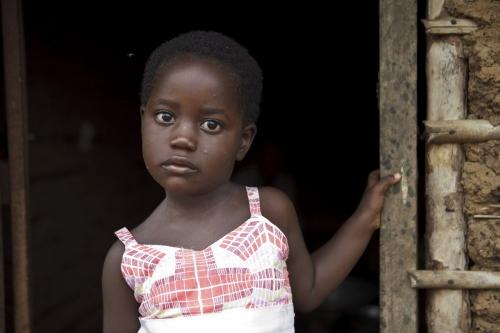 Portrait d'une jeunne fille en Côte d'Ivoire