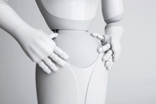 Photographie de packshot du robot Pepper réalisé en studio pour Aldebaran SoftBank Robotics. Agence Toma. DA : Aurélien Esquivet. | Philippe DUREUIL Photographie