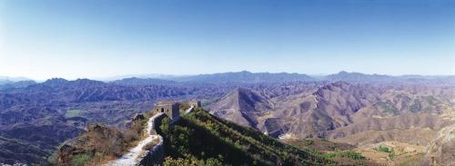 Photographie panoramique de la Grande Muraille de Chine à Simatai. | Philippe DUREUIL Photographie