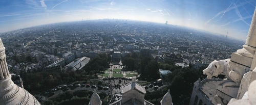 Vue panoramique de Paris prise depuis la Basilique du Sacré-Cœur à Paris, France. | Philippe DUREUIL Photographie