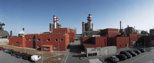 Photographie panoramique de la centrale de production d'électricité DK6