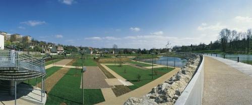 Photographie panoramique du parc arboretum de Montfermeil réalisée pour l'agence de paysage et d'architecture Pasodoble. | Philippe DUREUIL Photographie