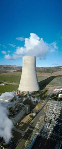 Photographie panoramique verticale de la centrale thermique propre de Puertollano en Espagne | Philippe DUREUIL Photographie