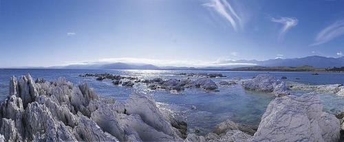 Photographie panoramique de paysage à Kaikoura en Nouvelle Zélande