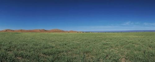 Photographie panoramique de paysage réalisée au Maroc