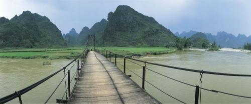 Photo panoramique de paysage réalisée à Ban Gioc au Vietnam | Philippe DUREUIL Photographie