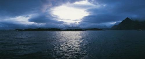 Photographie panoramique (NOBLEX) réalisée aux îles Lofoten en Norvège. | Philippe DUREUIL Photographie