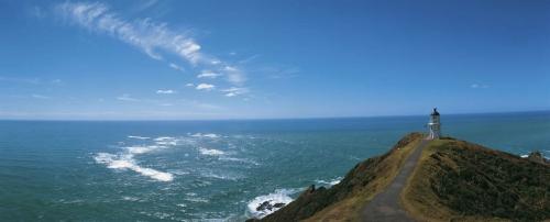 Photo panoramique réalisée au Cap Reinga en Nouvelle-Zélande. | Philippe DUREUIL Photographie