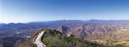 Photographie panoramique de la muraille de Chine