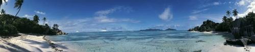 Photo panoramique plage Seychelles