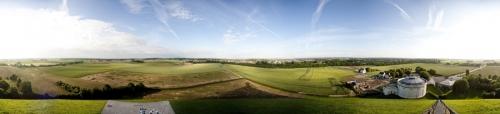 Photographie panoramique 360° du champ de bataille de Waterloo réalisée depuis la Butte du Lion pour la société SmArtapps® | Philippe DUREUIL Photographie