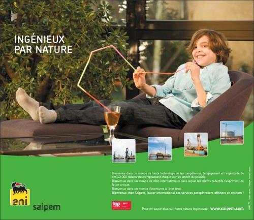 Photo life style réalisée pour illustrer une campagne presse - Annonceur : SAIPEM - Agence de production : Objectif Images | Philippe DUREUIL Photographie