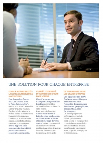 Photographie corporate - Annonceur : ING Car Lease - Brochure corporate | Philippe DUREUIL Photographie