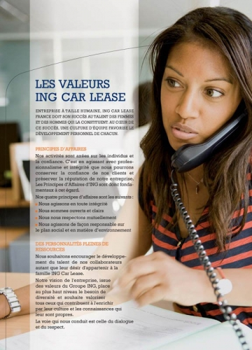 Photographie de portrait corporate - Annonceur : ING Car Lease - Brochure corporate | Philippe DUREUIL Photographie