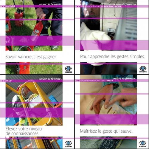 Affiches publicitaires - Photos sur la sécurité au travail et la formation professionnel - Annonceur : SOCOTEC - Agence : Ketk, etc - DC : Régis Biecher - DA : Odile Simonel | Philippe DUREUIL Photographie