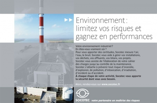 Brochure sur la prévention des risques environnementaux réalisée pour SOCOTEC - Agence KetK, etc - DA : Odile Simonel | Philippe DUREUIL Photographie