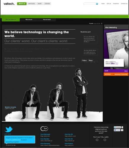 Illustration du site Internet de Valtech - Annonceur : Valtech - DA : Laurent Moulager | Philippe DUREUIL Photographie