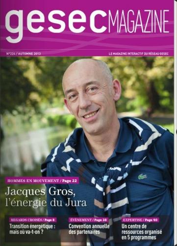 Portrait corporate de Monsieur Jacques Gros - Couverture de Gesec Magasine | Philippe DUREUIL Photographie