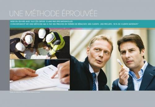 Photos illustrant une brochure commerciale corporate - Annonceur : Concertance® - Spie batignolles - Agence : Thélème - DA : Brigitte Chenu | Philippe DUREUIL Photographie