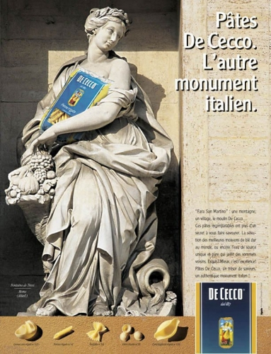 Campagne publicitaire presse et PLV - Annonceur : DE CECCO - Agence : Apache Conseil - Directeur artistique : Eric Chalvin | Philippe DUREUIL Photographie