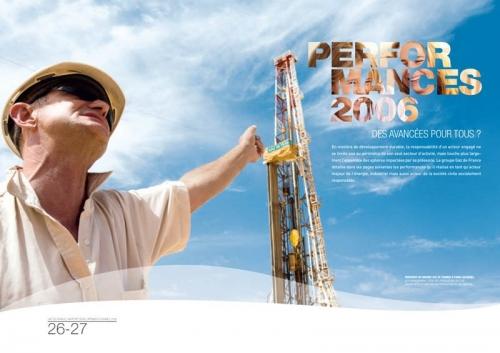 Photo industrielle illustrant un rapport développement durable Gaz de France | Philippe DUREUIL Photographie