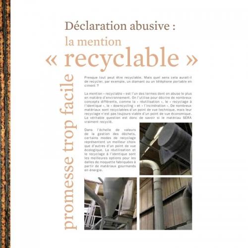 Photo illustrant le recyclage dans une brochure développement durable - Annonceur : InterfaceFLOR - Agence : Sidièse - DC : Guillaume Müller | Philippe DUREUIL Photographie