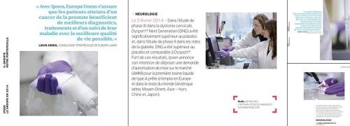Photographies corporate de reportages qui illustrent le Rapport Annuel 2014 du Groupe IPSEN. | Philippe DUREUIL Photographie