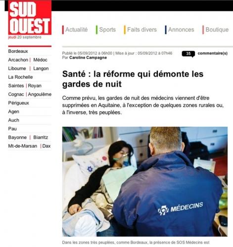 Photo de reportage médical illustrant le site Internet du journal Sud Ouest | Philippe DUREUIL Photographie