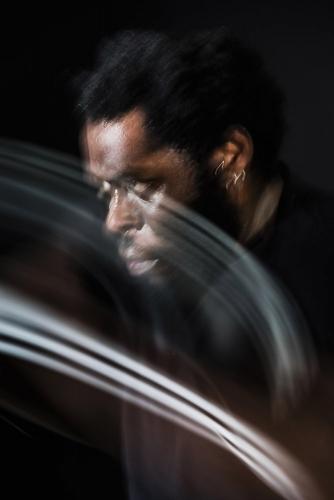 Portrait d'un boxeur en mouvement, Larry Benzaken | Philippe DUREUIL Photographie