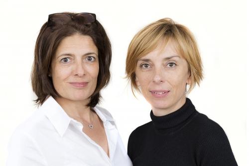 Portrait en duo et en studio de Juliette Portalier (Fondatrice) et Karine Mast (Planeuse créative) de l'Agence Thoughts for FOOD | Philippe DUREUIL Photographie