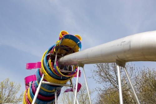 Reportage photographique sur la construction du Dragon réalisé pour l'Agence Pasodoble au Parc de la Villette à Paris. Conceptrice : Ursula Kurz Architecte Paysagiste | Philippe DUREUIL Photographie